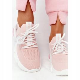 Damskie Sportowe Buty Skarpetkowe GOE HH2N4019 Różowe białe 1