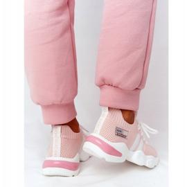 Damskie Sportowe Buty Skarpetkowe GOE HH2N4019 Różowe białe 4