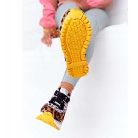 Zamszowe Sportowe Buty Na Platformie GOE HH2N4003 Brązowe białe czarne 1