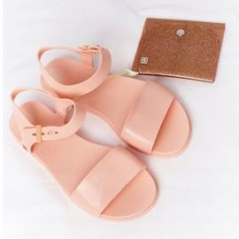Pachnące Gumowe Sandaly Eco Friendly ZAXY HH285123 Nude beżowy różowe 1