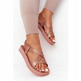 Pachnące Gumowe Sandaly Eco Friendly ZAXY HH285167 Nude beżowy różowe 4