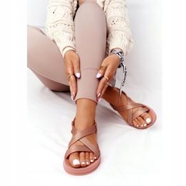 Pachnące Gumowe Sandaly Eco Friendly ZAXY HH285167 Nude beżowy różowe 5