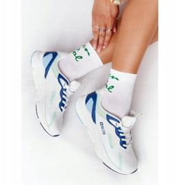 Damskie Sportowe Buty Memory Foam Big Star HH274810 Biało-Zielone białe niebieskie 5