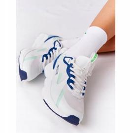 Damskie Sportowe Buty Memory Foam Big Star HH274810 Biało-Zielone białe niebieskie 6