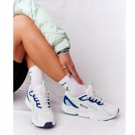 Damskie Sportowe Buty Memory Foam Big Star HH274810 Biało-Zielone białe niebieskie 1