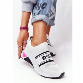 Sportowe Buty Slip-On Memory Foam Big Star HH274538 Białe czarne 3
