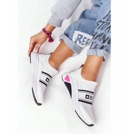 Sportowe Buty Slip-On Memory Foam Big Star HH274538 Białe czarne 1