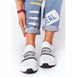 Sportowe Buty Slip-On Memory Foam Big Star HH274538 Białe czarne 2