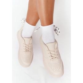 PS1 Damskie Sportowe Buty Na Platformie Beżowe This Is Me beżowy 6