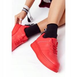 PS1 Damskie Sportowe Buty Na Platformie Czerwone This Is Me 4
