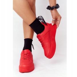 PS1 Damskie Sportowe Buty Na Platformie Czerwone This Is Me 3