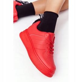 PS1 Damskie Sportowe Buty Na Platformie Czerwone This Is Me 5