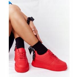 PS1 Damskie Sportowe Buty Na Platformie Czerwone This Is Me 7