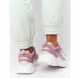 Damskie Sportowe Buty Memory Foam Big Star HH274258 Fioletowe różowe 6