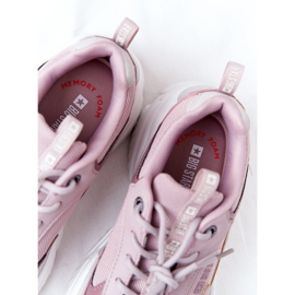 Damskie Sportowe Buty Memory Foam Big Star HH274258 Fioletowe różowe 9