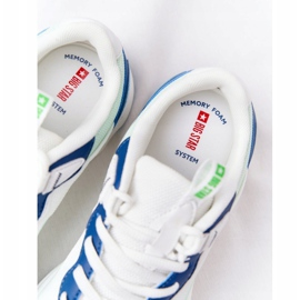 Damskie Sportowe Buty Memory Foam Big Star HH274810 Biało-Zielone białe niebieskie 7