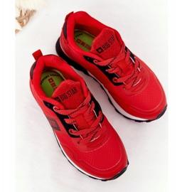 Dziecięce Sportowe Buty Memory Foam Big Star HH374173 Czerwone 2