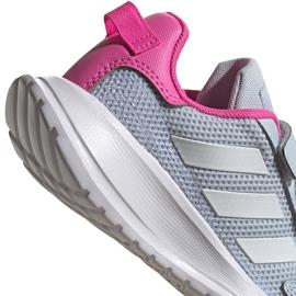 Buty dla dzieci adidas Tensaur Run C szaro-różowe FY9197 szare 3