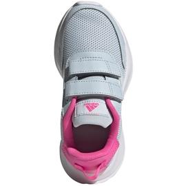 Buty dla dzieci adidas Tensaur Run C szaro-różowe FY9197 szare 1