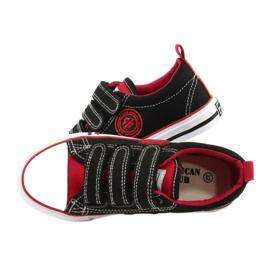 American Trampki Dziecięce Na Rzepy American Club LH61 Czarno-Czerwony czarne czerwone 4