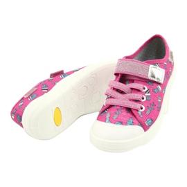 Befado obuwie dziecięce 251X167 różowe srebrny 3