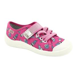 Befado obuwie dziecięce 251X167 różowe srebrny 1