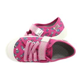 Befado obuwie dziecięce 251X167 różowe srebrny 5