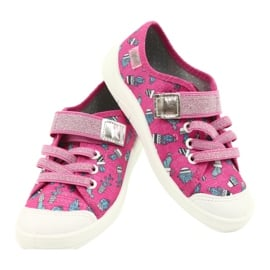 Befado obuwie dziecięce 251X167 różowe srebrny 4