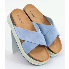 Klapki korkowe niebieskie LS016 Blue 1