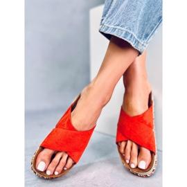 Klapki korkowe pomarańczowe LS016 Orange 2