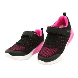American Club Dziewczęce Buty Sportowe Na Rzep RL11 Czarne/Różowe 1