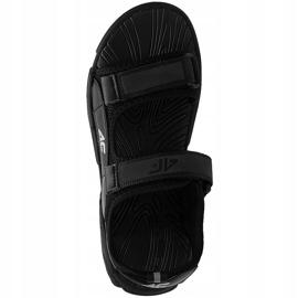 Sandały dla chłopca 4F głęboka czerń HJL21 JSAM002 20S czarne 1