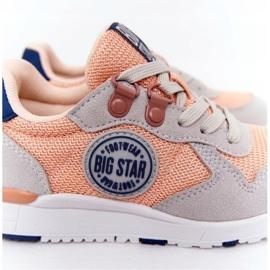 Dziecięce Sportowe Buty Memory Foam Big Star HH374180 Pomarańczowe granatowe szare 6