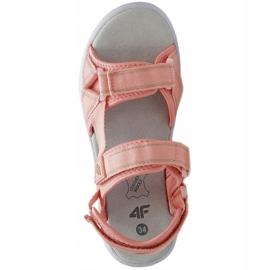Sandały 4F Jr HJL21 JSAD001 56S czarne różowe 1