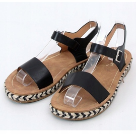 Sandałki espadryle czarne TH005 Black 3