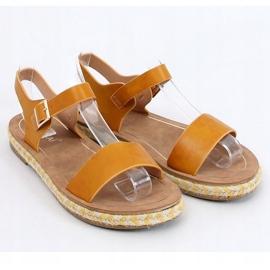 Sandałki espadryle miodoweTH005 Yellow żółte 3