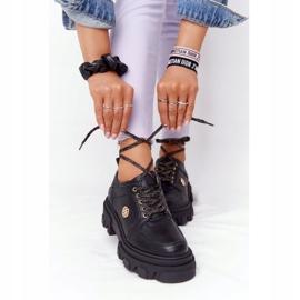 Skórzane Półbuty Oxfordy Lewski Shoes 3011-0 Czarne 1