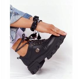Skórzane Półbuty Oxfordy Lewski Shoes 3011-0 Czarne 3