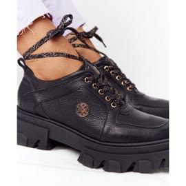 Skórzane Półbuty Oxfordy Lewski Shoes 3011-0 Czarne 5