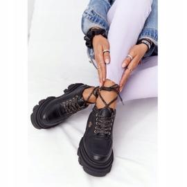 Skórzane Półbuty Oxfordy Lewski Shoes 3011-0 Czarne 4