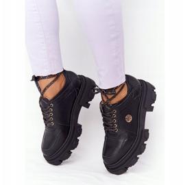 Skórzane Półbuty Oxfordy Lewski Shoes 3011-0 Czarne 2