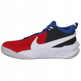 Buty do koszykówki Nike Team Hustle D 10 Big Basketball Shoe Jr CW6735 005 czerwony, biały, czerwony, granatowy czerwone 2