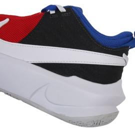 Buty do koszykówki Nike Team Hustle D 10 Big Basketball Shoe Jr CW6735 005 czerwony, biały, czerwony, granatowy czerwone 3