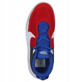 Buty do koszykówki Nike Team Hustle D 10 Big Basketball Shoe Jr CW6735 005 czerwony, biały, czerwony, granatowy czerwone 4