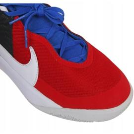 Buty do koszykówki Nike Team Hustle D 10 Big Basketball Shoe Jr CW6735 005 czerwony, biały, czerwony, granatowy czerwone 5