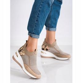 ARTIKER Wsuwane Sneakersy Moro Print brązowe 1