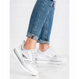 ARTIKER Biało-szare Sneakersy Ze Skóry białe 3
