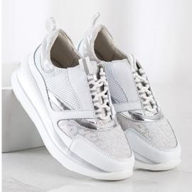 ARTIKER Biało-szare Sneakersy Ze Skóry białe 1