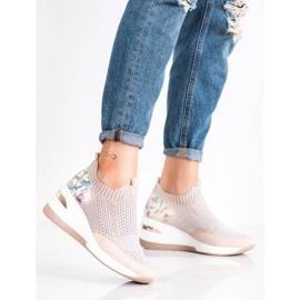 ARTIKER Wsuwane Sneakersy Moro Print różowe wielokolorowe 1