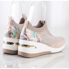 ARTIKER Wsuwane Sneakersy Moro Print różowe wielokolorowe 3